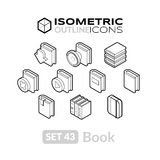 Isometric outline icons set 43 Stock Photography