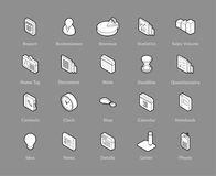 Isometric outline icons set. Isometric outline icons, 3D pictograms vector set - Business symbol collection Stock Images