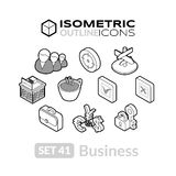 Isometric outline icons set 41 Stock Photos