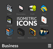 Isometric outline icons set 42 Stock Images