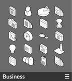 Isometric outline icons set Royalty Free Stock Photo