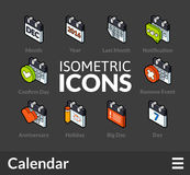 Isometric outline icons set 40 Royalty Free Stock Image