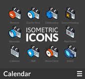 Isometric outline icons set 39 Royalty Free Stock Image