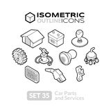Isometric outline icons set 35 Royalty Free Stock Photos