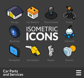 Isometric outline icons set 35 Royalty Free Stock Image