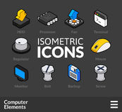 Isometric outline icons set 3 Stock Photography