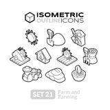 Isometric outline icons set 21 Royalty Free Stock Photography