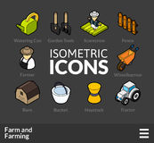 Isometric outline icons set 22 Royalty Free Stock Photo