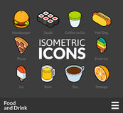 Isometric outline icons set 55 Royalty Free Stock Photography