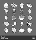 Isometric outline icons set Stock Photo