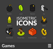 Isometric outline icons set 14 Stock Image