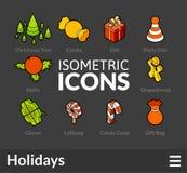 Isometric outline icons set 52 Stock Photos