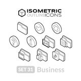 Isometric outline icons set 31 Stock Photos