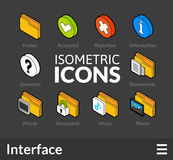 Isometric outline icons set 31 Stock Photography