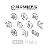 Isometric outline icons set 37 Stock Images