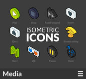 Isometric outline icons set 37 Royalty Free Stock Images