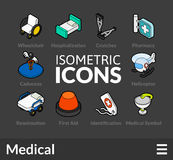 Isometric outline icons set 20. Isometric outline icons, 3D pictograms vector set 20 - Medical symbol collection Stock Photo