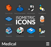 Isometric outline icons set 17 Royalty Free Stock Images