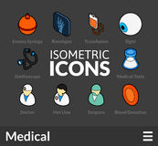 Isometric outline icons set 19 Royalty Free Stock Photography