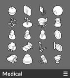 Isometric outline icons set. Isometric outline icons, 3D pictograms vector set - Medical symbol collection Royalty Free Stock Photography