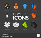 Isometric outline icons set 33 Royalty Free Stock Images