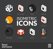 Isometric outline icons set 45 Stock Photo