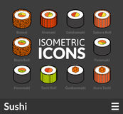 Isometric outline icons set 26 Stock Photos