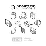 Isometric outline icons set 49 Stock Image