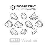 Isometric outline icons set 23 Royalty Free Stock Photography