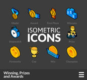 Isometric outline icons set 57 Royalty Free Stock Images
