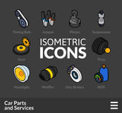 Isometric outline icons set 36 Royalty Free Stock Image