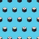 Isometric płaski suszi wzór Obraz Royalty Free