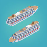 Isometric Passenger Ship. Tourism Industry Royalty Free Stock Image