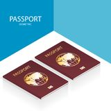 Isometric passport world vector royalty free stock photos