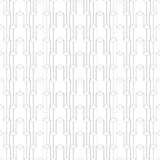 Isometric pattern of cubes. Seamless isometric pattern of cubes,  linear background of delicate lines, black and white geometric contemporary ornament Stock Images