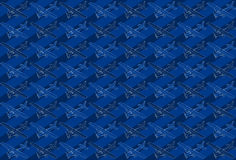 Isometric pattern of a little plane Royalty Free Stock Photo