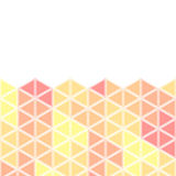 Isometric pattern on a white background. Bright isometric pattern on a white background. The image in warm colors. Bright background Stock Images