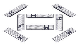 Isometric PC keyboard Stock Photography