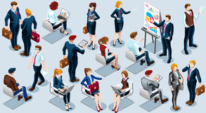 Isometric People Audience Icon 3D Set Vector Illustration Royalty Free Stock Photography