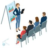 Isometric People Briefing Stock Image