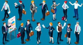 Isometric People Business Group Icon 3D Set Vector Illustration Royalty Free Stock Photography