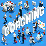 Isometric People Coaching Icon 3D Set Vector Illustration Royalty Free Stock Photos