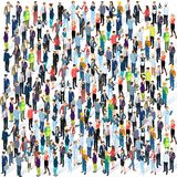 Isometric People Crowd. Royalty Free Stock Photo