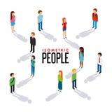 isometric people design Royalty Free Stock Photo
