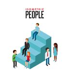isometric people design Royalty Free Stock Image