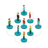 isometric people design Royalty Free Stock Images