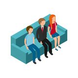 isometric people design Royalty Free Stock Photo