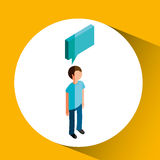 Isometric people design. Isometric people  design,  illustration eps10 graphic Stock Image