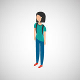 Isometric people design Stock Images