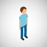 Isometric people design Royalty Free Stock Photos